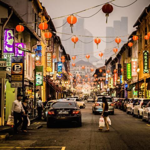 Una calle en Singapur