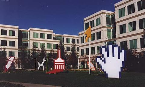 Campus de Microsoft en los 90