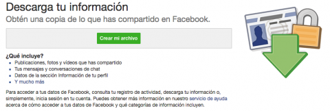Descarga archivo Facebook