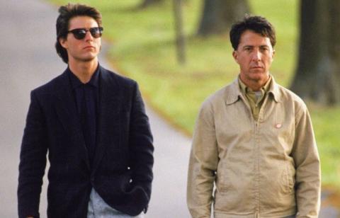 Dustin Hoffman y Tom Cruise