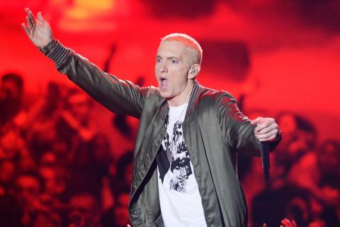 Imagen de Eminem en un concierto.