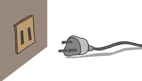Enchufe en el hogar