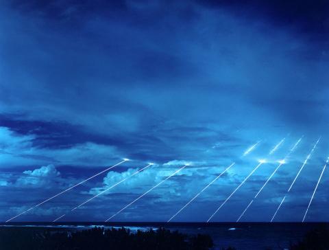cabezas nucleares simuladas de un misil de Peacekeeper