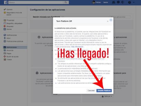 Facebook Desactivar Plataforma 05