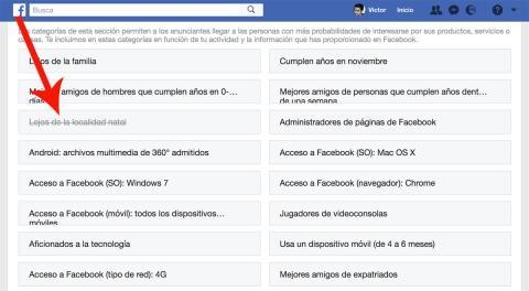 Facebook eliminación de datos personales