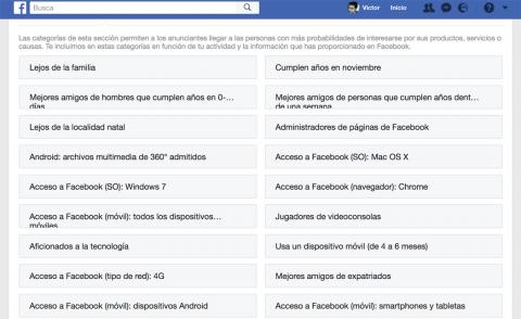 Facebook Intereses Personales
