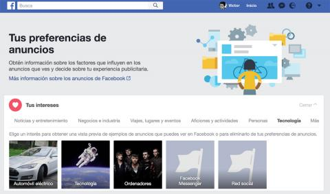 Facebook Preferencias Anuncios