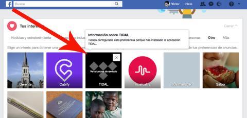 Facebook Tidal