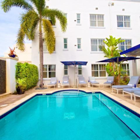 piscina, hotel, miami