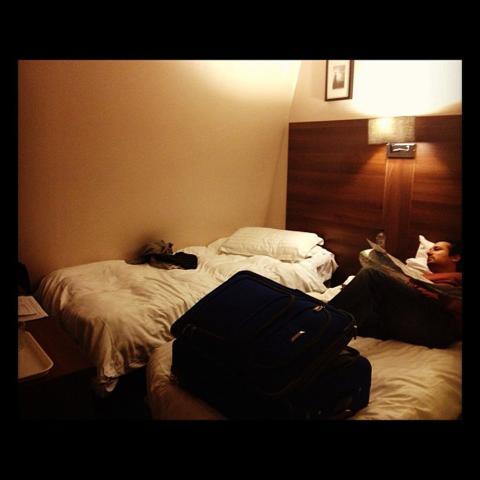 hotel, londres, habitación