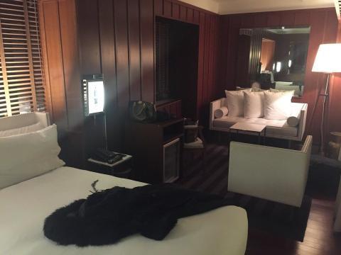 hotel, habitación, california