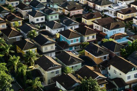 Una imagen de un barrio residencial.