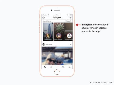 Pantallazo a las Instagram Stories.