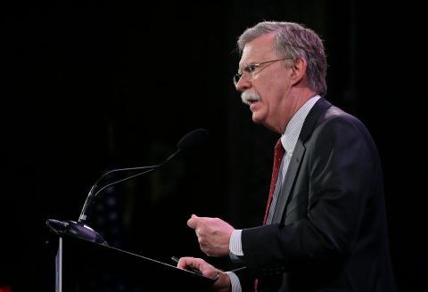 John Bolton habla durante la Cumbre de la Libertad, el 24 de enero de 2015, en Des Moines, Iowa.
