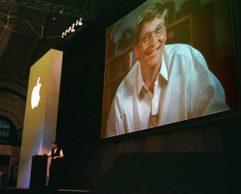 Keynote de Apple con Bill Gates