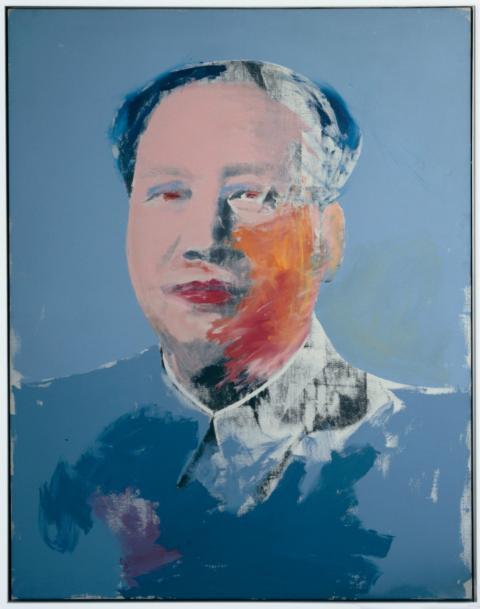 Warhol seleccionó una única imagen del líder comunista chino Mao Zedong, aprovechando la polémica mediática que rodeó la visita a China del presidente Richard Nixon en febrero de 1972.