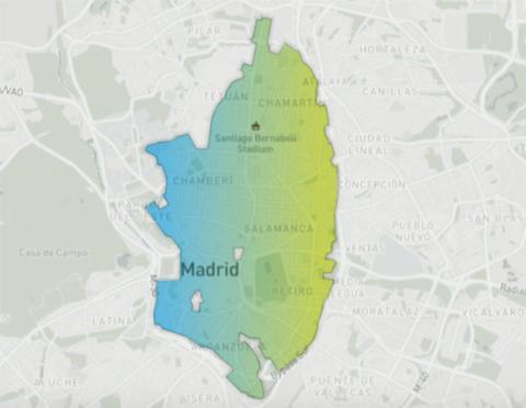 El mapa de eCooltra en Madrid: esta es la zona que cubre este servicio de motos de alquiler por minutos