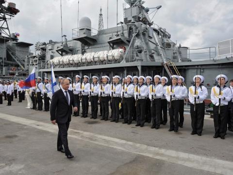 Marineros y Vladimir Putin