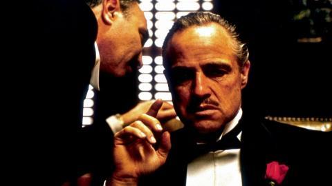 Fotograma de Marlon Brando en 'El padrino'.