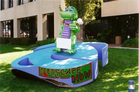 El día que los empleados de Microsoft pusieron su 'e' en Netscape y Netscape respondió plantando su mascota encima