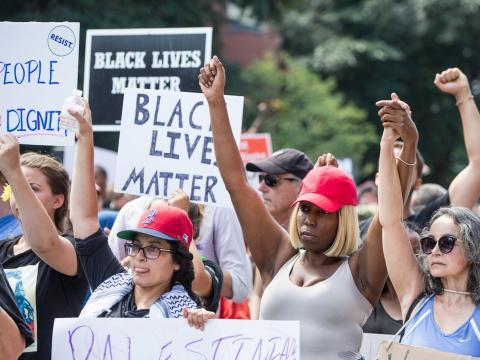 Miembros del movimiento Black Lives Matters
