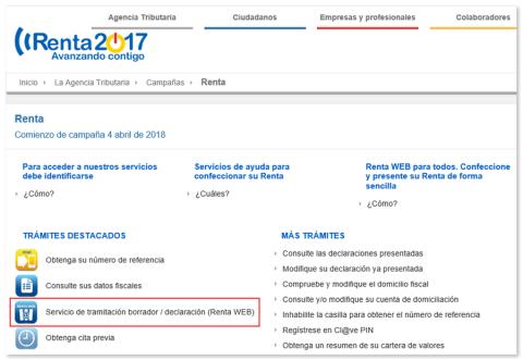 La Agencia Tributaria habilita un servicio para solicitar el borrador online
