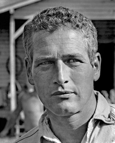 Retrato de Paul Newman.