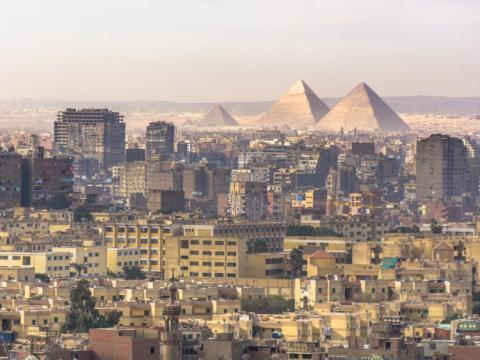 Pirámides de Giza, a las afueras de El Cairo