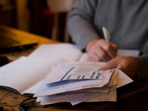 rellenando plan financiero
