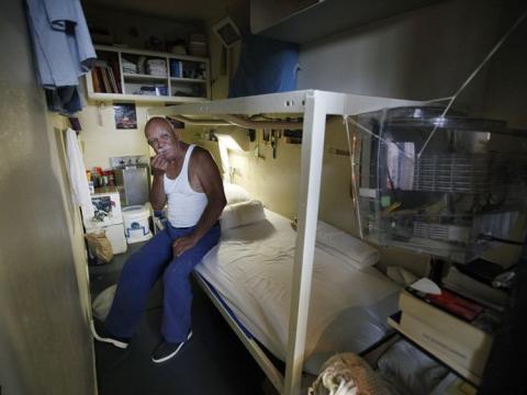 celda, prisión, california