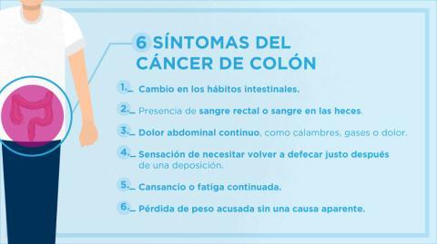 sintomas cáncer colon