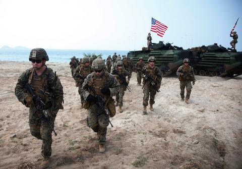 Los Marines de los EE. UU. en el este de Tailandia, el 17 de febrero de 2018.