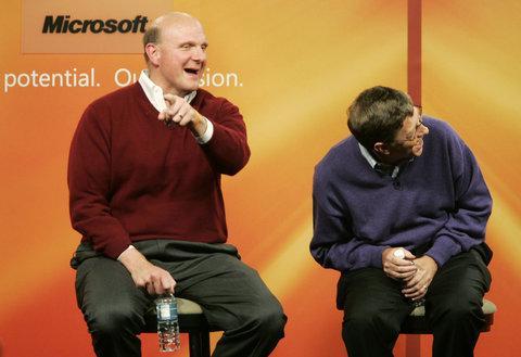 Steve Ballmer y Bill Gates