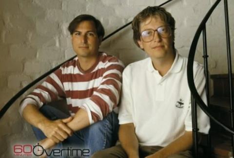 Steve Jobs y Bill Gates jóvenes