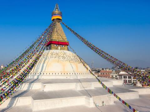 Templo budista de Boudhanath en Katmandú, Nepal