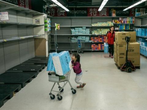 Escasez de papel higiénico en Taiwan