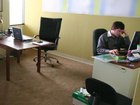 Oficina vacia, trabajo