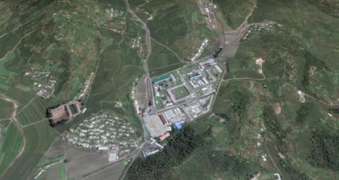 """El campamento de """"reeducación"""" en Kaechon, Corea del Norte."""