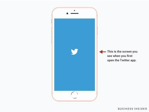 Imagen de la pantalla de inicio de Twitter.