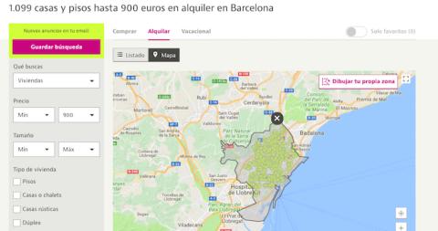 Viviendas por menos de 900 euros en Barcelona