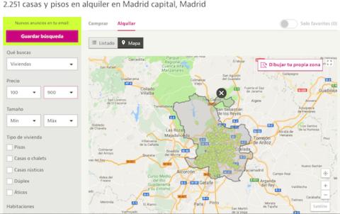 Viviendas por menos de 900 euros en Madrid