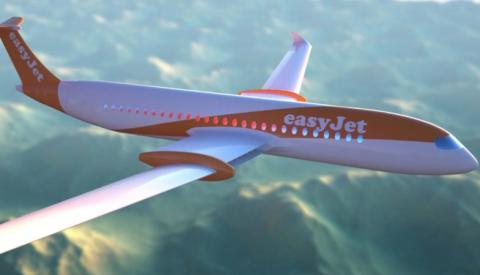 Un prototipo de un avión de EasyJet 100% eléctrico, creado por Wright Electric.