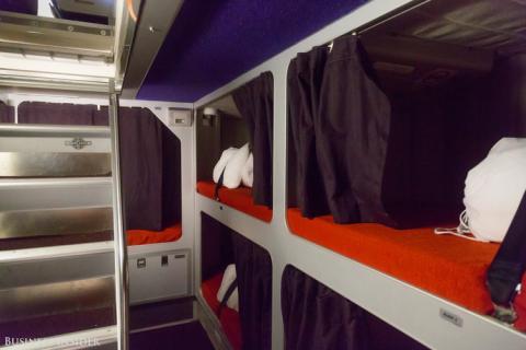 Área de descanso de la tripulación de Airbus A340-600