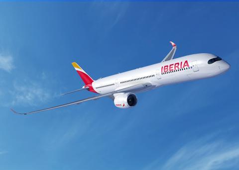 Un avión de Iberia.