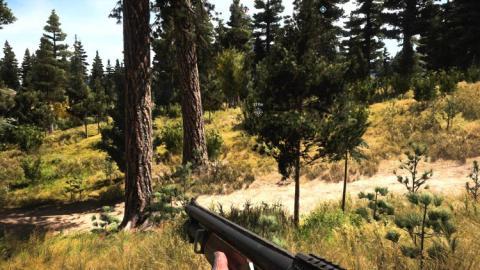 Gran parte de Far Cry 5se pasa corriendo por los bosques de Montana,pistolas en mano.