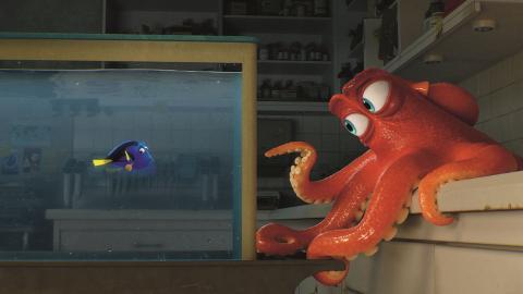 Fotograma de Buscando a Dory, una película Pixar.