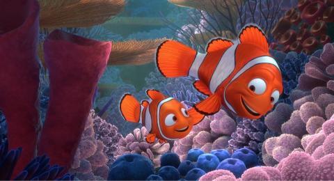 Fotograma de Buscando a Nemo, una película Pixar.