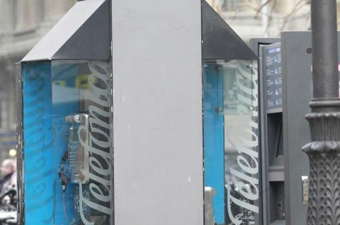 Una cabina telefónica