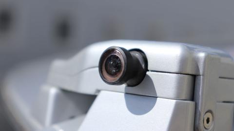 Una de las cámaras de los coches autónomos de BMW