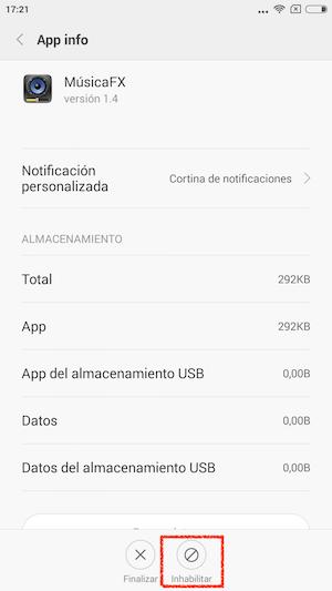 Desinstala las apps y fuerza el cierre de las aplicaciones